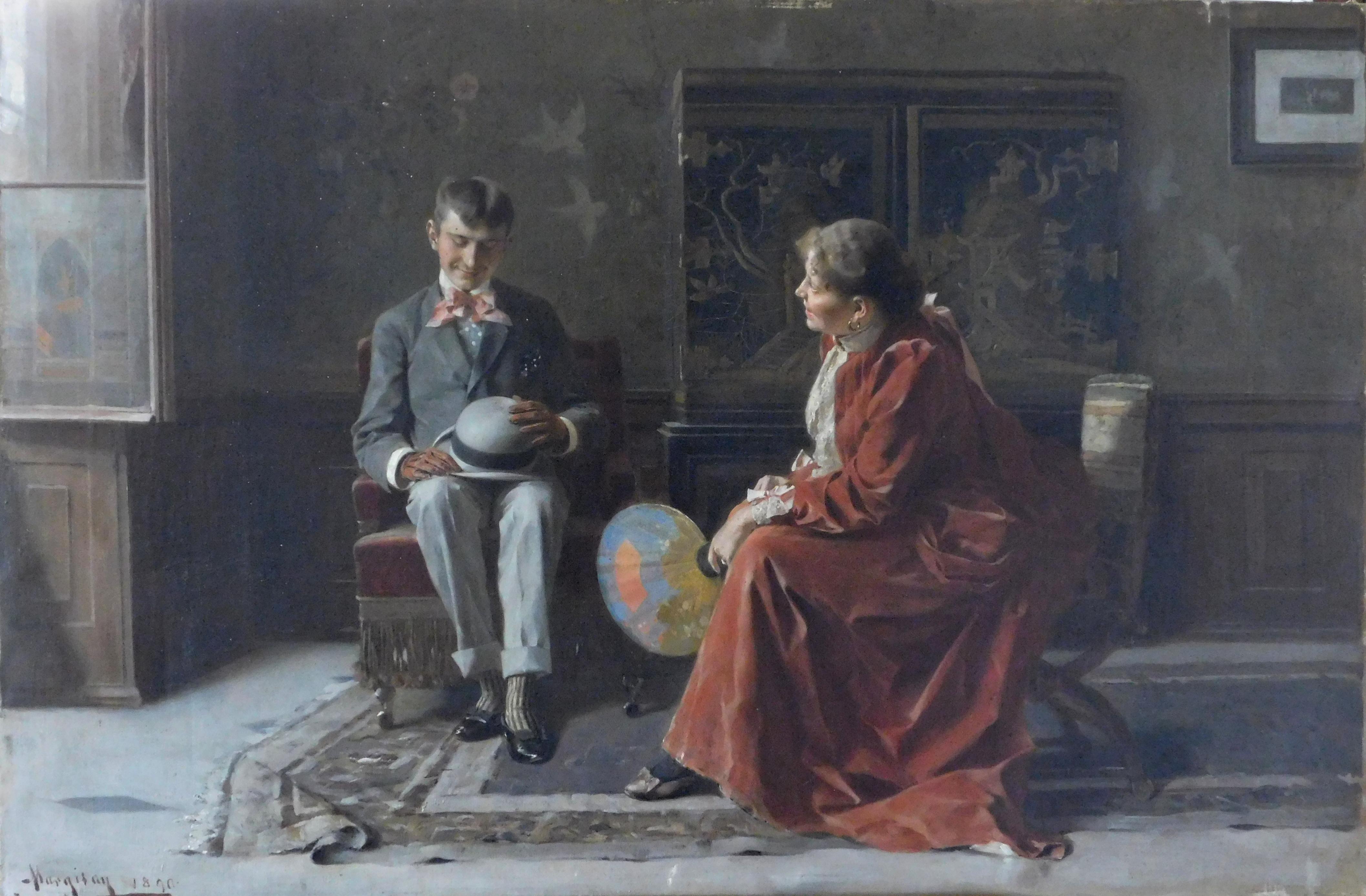Obraz s názvom pytačky, rok 1890.