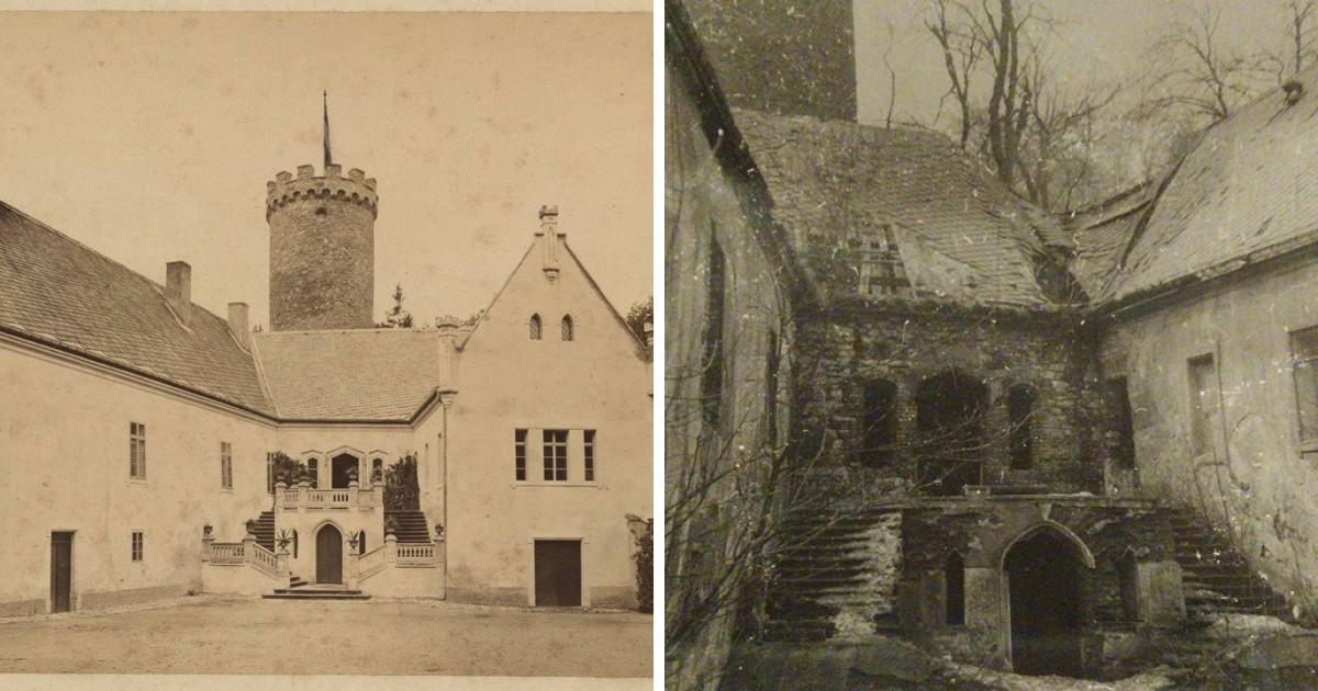 Hrad Hauenštejn na dobových fotografiách.