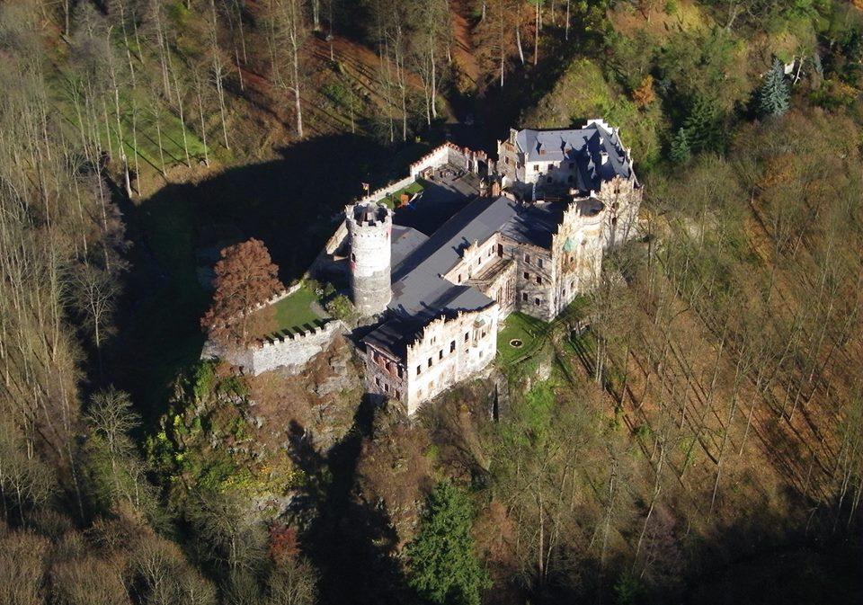 Letecký pohľad na Horní hrad.