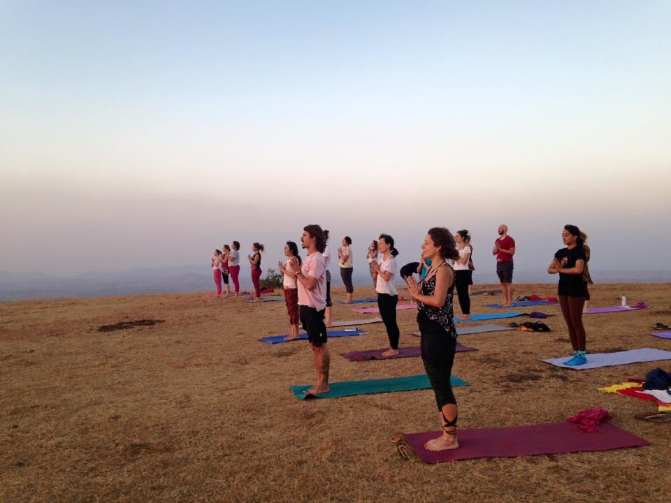 Saša počas učiteľského kurzu jogy v Indii.