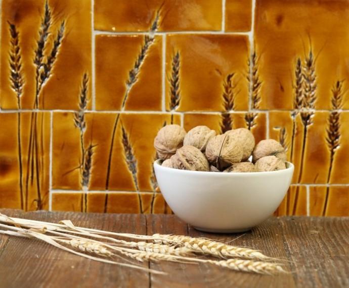Mozaika s motívom pšenice.