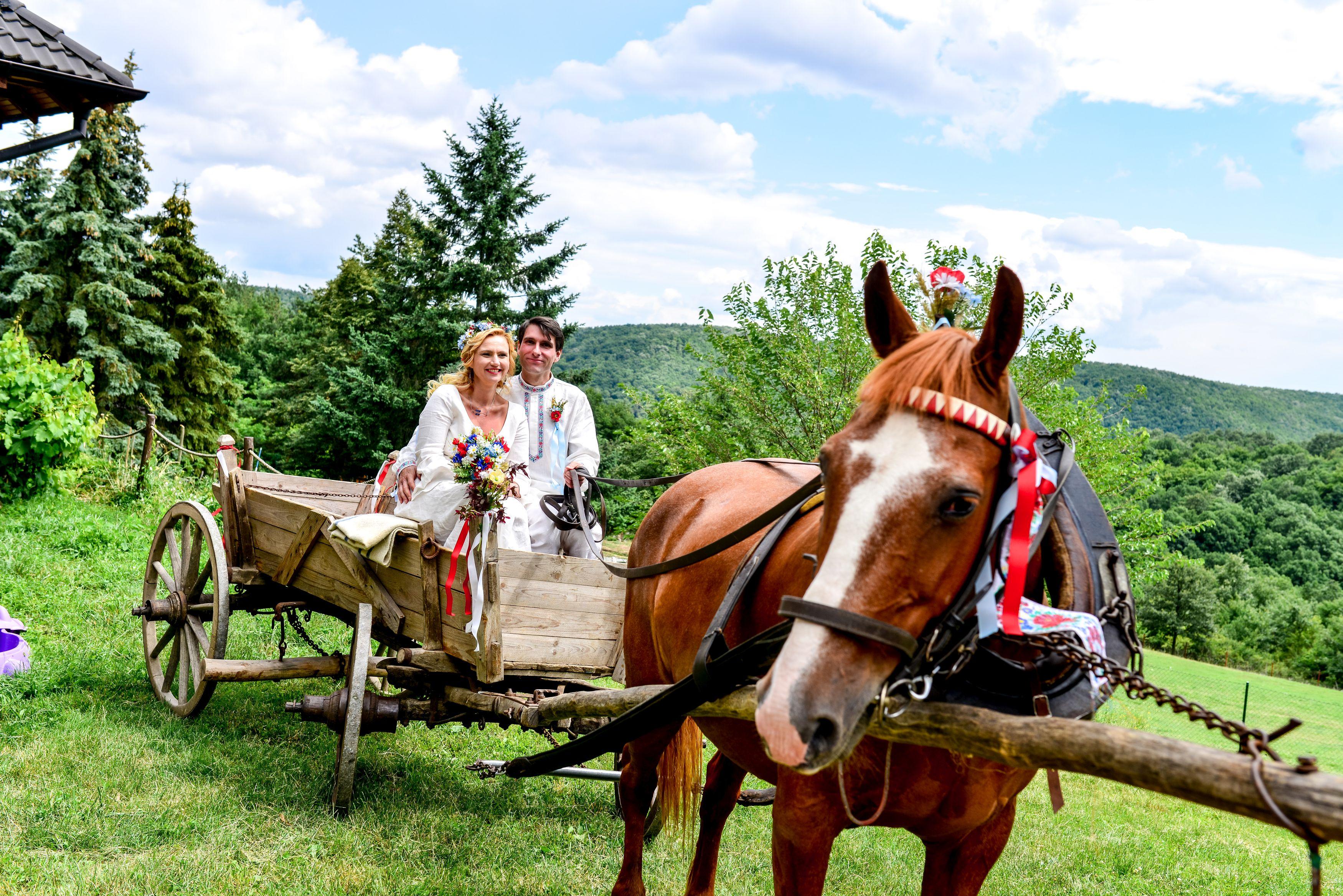 Na obrad do dediny išli koňmo.