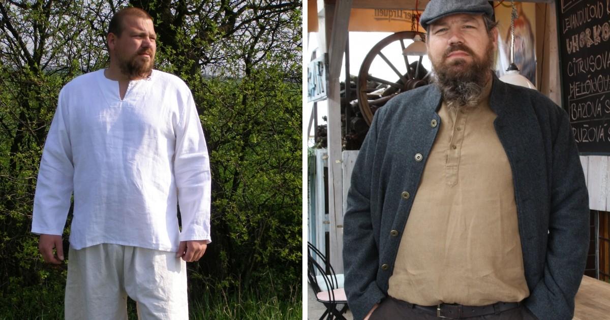 Ivan je chlap ako hora, najlepšie sa cíti v oblečení z prírodných materiálov.