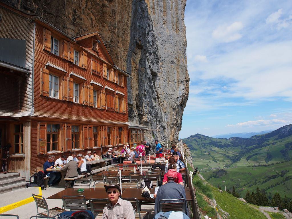 Aescher je najzaujímavejšia reštaurácia sveta.