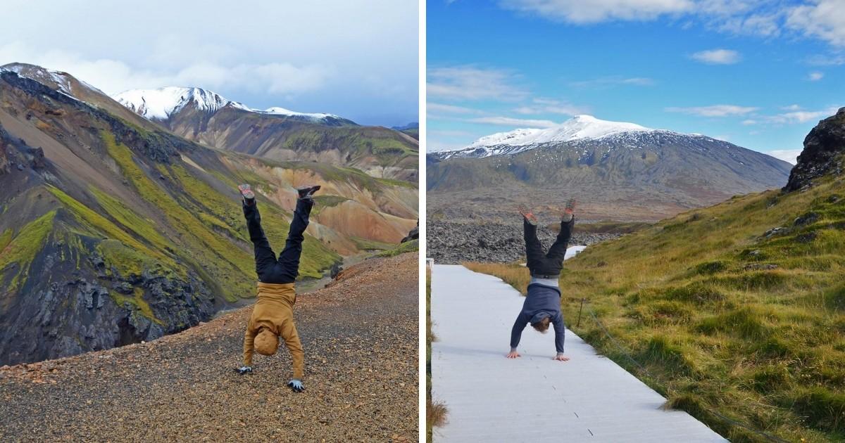 ISLAND DÚHOVÉ HORY (vľavo) Trip dookola Islandu bol úžasný 11 dňový výlet, kedy sme niekoľkokrát videli polárnu žiaru, kúpali sa v termálnych prameňoch a triasli sa zimou v stanoch. Snæfellsjökull (vpravo) Niekde na západe Islandu, kde sa za mnou týči ľadovec Snæfellsjökull.