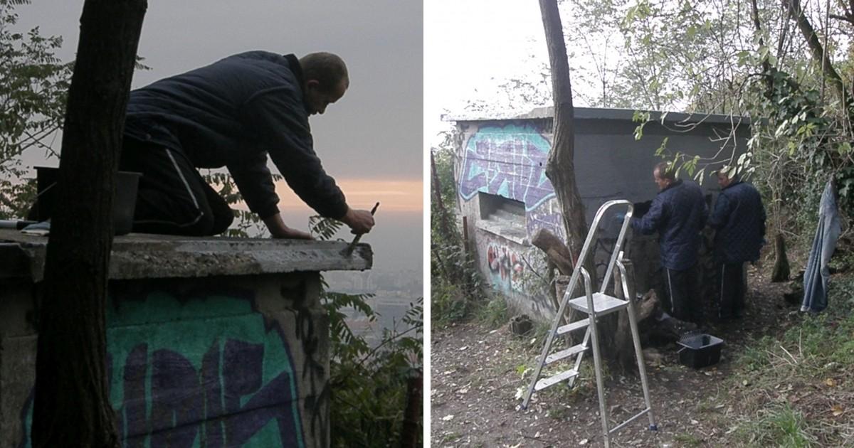 Pod ich rukami miznú aj graffiti.