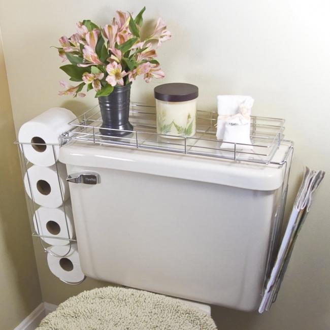 Aj toaleta sa dá využiť efektívne. Stačí použiť takéto kovové stojany.